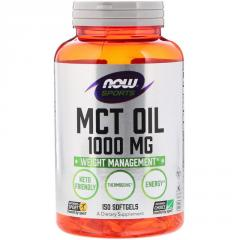 Масло МСТ, MCT Oil, Now Foods, 1000 мг, 150