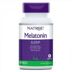 Мелатонин,  Melatonin 3 мг,  Natrol,  60...