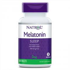 Мелатонин,  Melatonin 3 мг,  Natrol,  60...