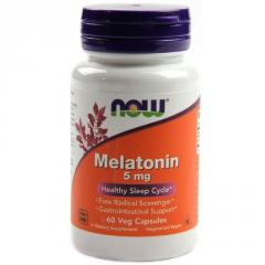 Мелатонин,  Melatonin,  Now Foods,  5 Мг, ...