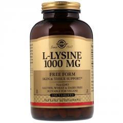 Лизин 1000 мг,  L-Lysine,  Solgar,  250...
