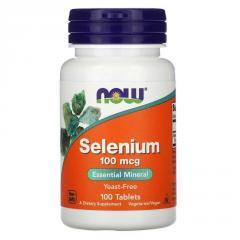 Селен,  Selenium,  Now Foods,  100 мкг,  100...