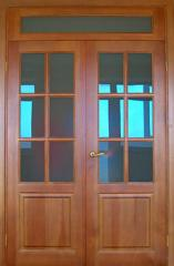 Doors are two-fold, interroom, wooden, to buy