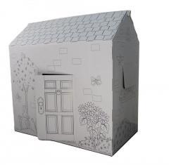 Раскраска домик, 94х100х56 см. Дерево и цветы,