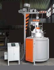 Uitrusting voor het gieten van non-ferro legeringen onder lage druk