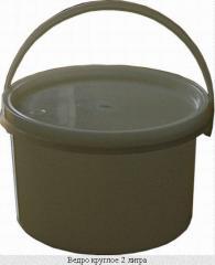 Полипропиленовая тара, ведро круглое пластиковое 2