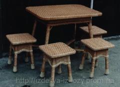 Набор мебели для кухни из лозы Код Нм-767
