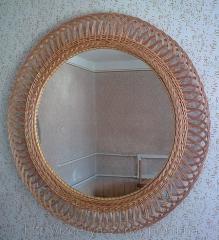 Зеркало в рамке из лозы Код З-980
