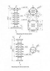 Insulator basic CK 10-3,3-125-V