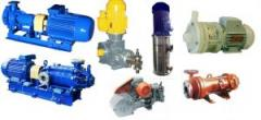 Chemical pumps of the TsG, KMH, HM, HP, ZTsG, HO