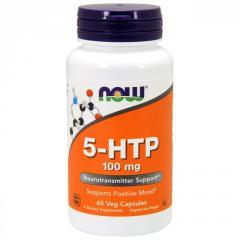 5-HTP (Гидрокситриптофан) 100мг,  Now Foods,...