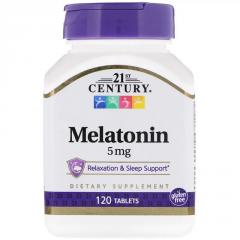 Мелатонин,  5 мг,  21st Century,  120...
