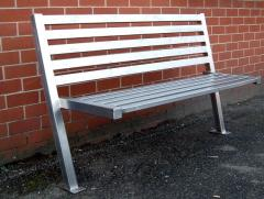 Bench park from a stainless steel