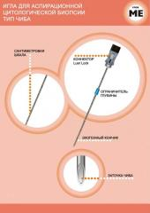 CHIBO needle for an aspiration cytologic biopsy