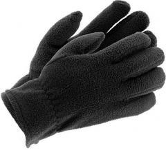 Перчатки флисовые зимние черные Польша