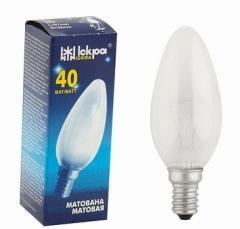 "Лампа накаливания ""свеча"" ДСМТ 230-25 Вт Е14 матовая колба"
