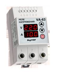 Реле напряжения с контролем тока DigiTop VA-63A