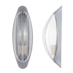 Светильник настенный ERKA 1205-S прозрачный/серебро