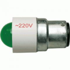 Лампа СКЛ5А-Л-2-220 B22d/25x26 Зеленая