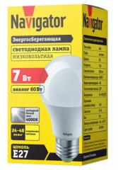 Лампа светодиодная низковольтная А60 24-48В 7Вт 4000 К Е27