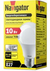 Лампа светодиодная низковольтная А60 24-48В 10Вт 4000 К Е27