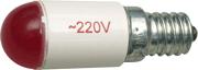 Лампа СКЛ6А-К-2-220 Е14/25х17 Красная