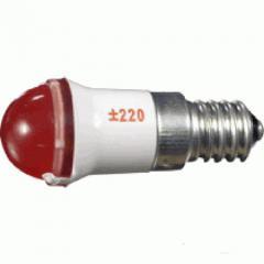 Лампа СКЛ9А-К-2-220 E14/25x17 Красная