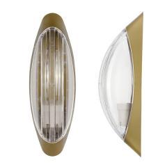 Светильник настенный ERKA 1205-G прозрачный/золото
