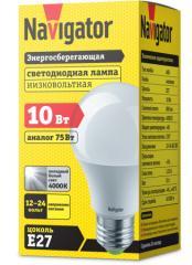 Лампа светодиодная низковольтная А60 12-24В 10Вт 4000 К Е27
