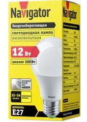 Лампа светодиодная низковольтная А60 12-24В 12Вт 4000 К Е27