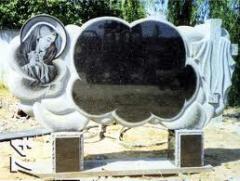 Monuments are granite horizontal