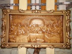 Carved icons, panel