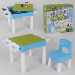 Игровой столик и стульчик с конструктором City