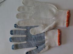 Перчатка с пвх точкой 7-ми нитка
