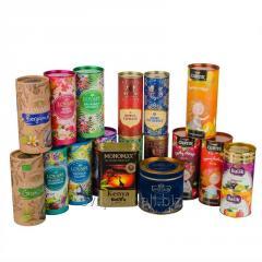 Тубус картонный для пищевых продуктов (чай, кофе,
