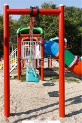 Детские площадки, детские горки, качели, домики,