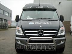 Защита переднего бампера Mercedes Sprinter