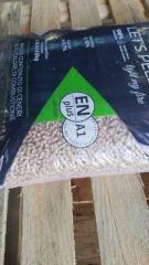 Пеллета сосна 6мм ,производство 15 кг