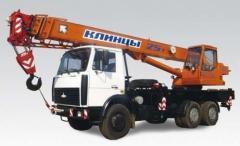 The truck crane Klintsy KS-55713 of the item 25t