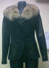 The coat is fur.