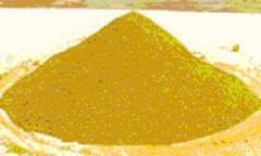 Pigments are iron oxide yellow.