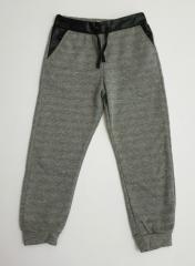 Спортивные брюки для девочек с кожаными вставками