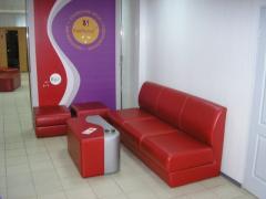 Мебель мягкая офисная на заказ, диван визит(не