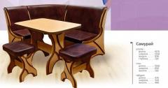 Kitchen corner, table kitchen + 2 stools.