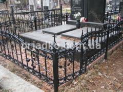 Ограды кованые ритуальные, Ограды на кладбище, Кованые ограды на могилы, Ритуальные кованые ограды для могилы - Эскизы и цены