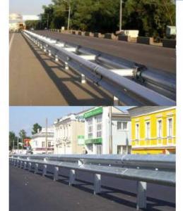Ограждение дорожное и мостовое барьерного...