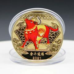 Денежная монета удачи 2021 год быка
