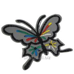 """Светоотражающие наклейки на одежду для детей 8,5х6см """"Бабочка"""" (СИНДТЕКС-0758)"""