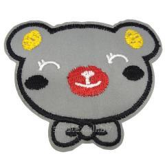 """Светоотражающие наклейки на одежду для детей 9х7см """"Панда"""" (СИНДТЕКС-0762)"""
