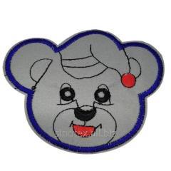 """Светоотражающие наклейки на одежду для детей 10,5х8см """"Мишка"""" (СИНДТЕКС-0753)"""